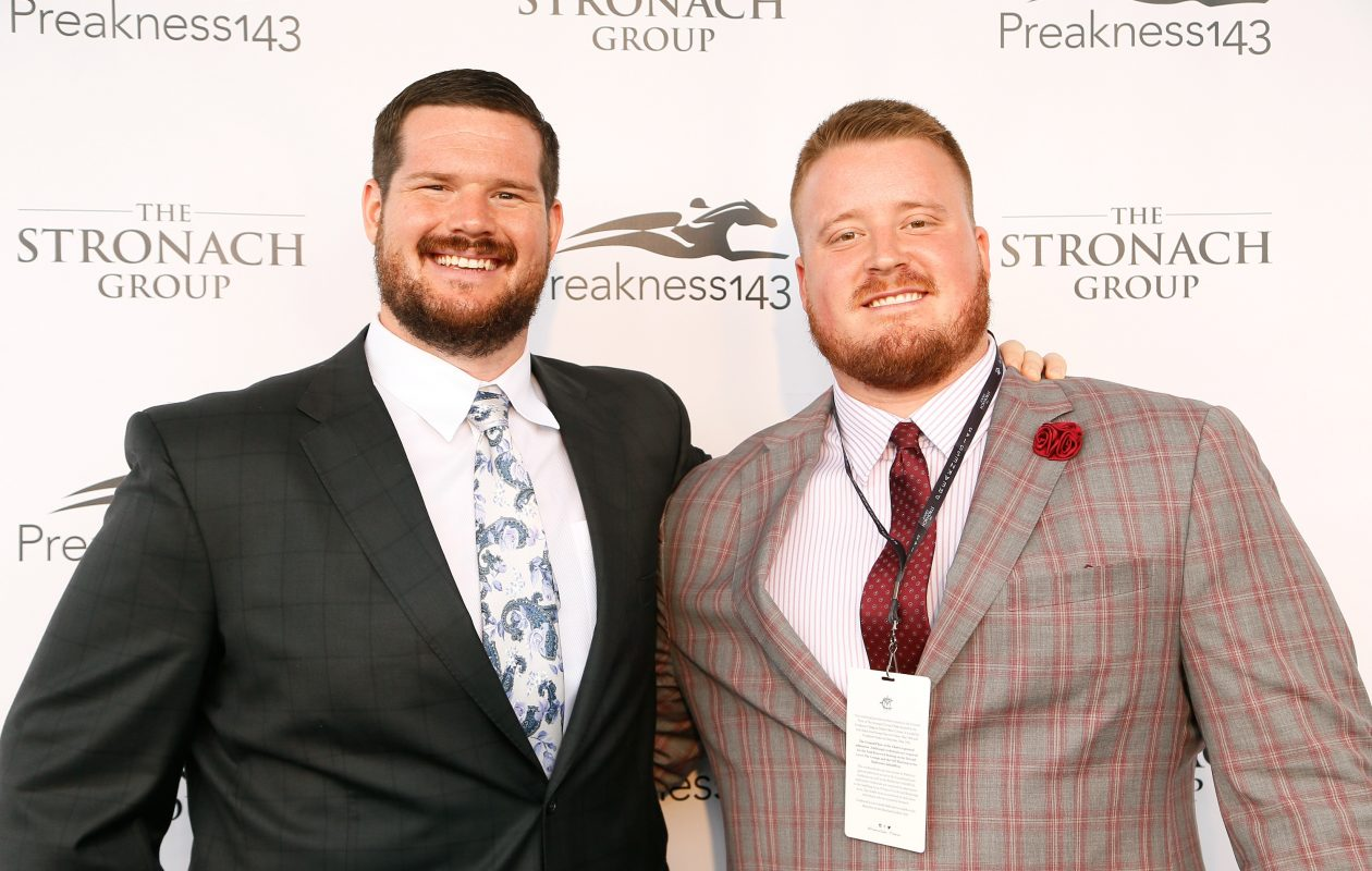 Bills teammates Jeremiah Sirles, left, and Spencer Long are hosting a dinner Thursday night for those impacted by flooding in their home state of Nebraska. (Getty Images)