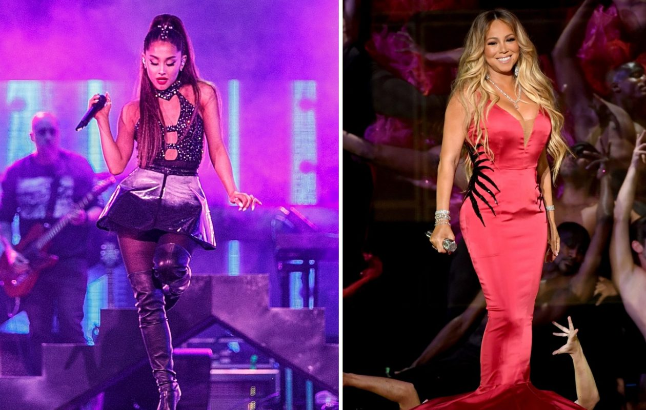 Ariana Grande, left, and Mariah Carey are both in Buffalo this weekend for show. (Getty Images)
