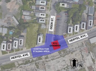 Sewer construction set to begin on Hertel Avenue at Deer Street. (Image courtesy of the Buffalo Sewer Authority)
