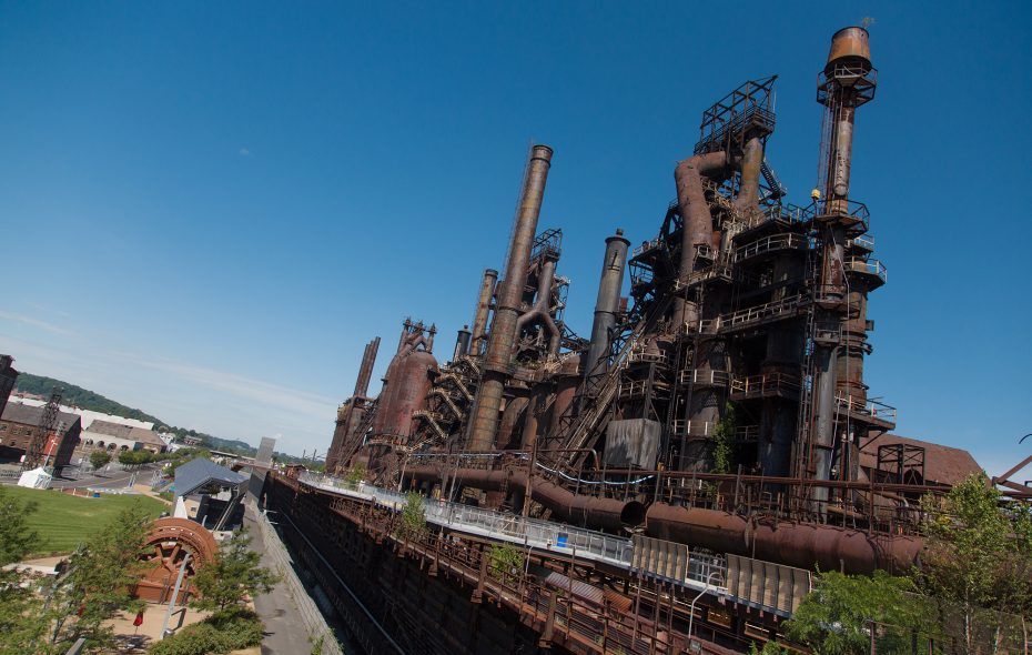 Walking along the Hoover Mason Trestle at the former Bethlehem Steel plant provides a close look at the blast furnaces where local residents worked for decades. (Discover Lehigh Valley)