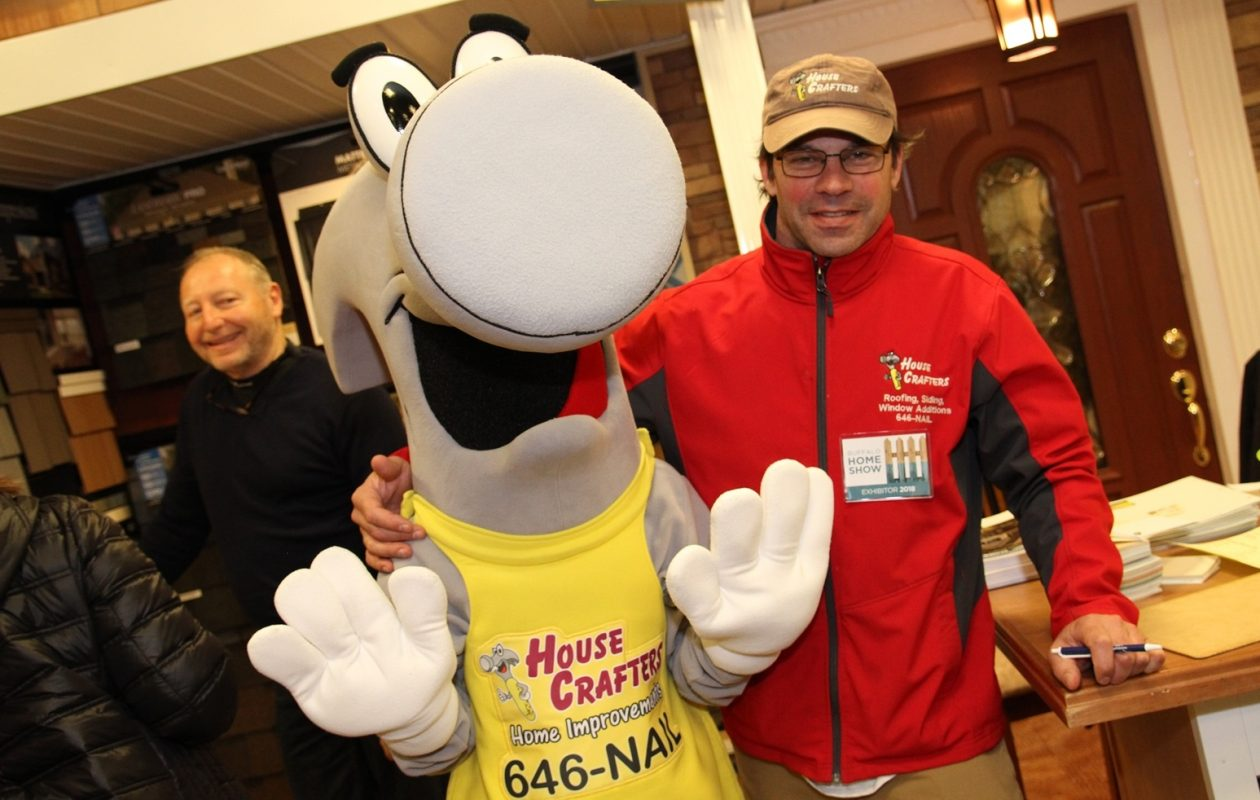 You never know who you'll run into at the Buffalo Home Show, which returns for the next two weekends. (Sarah K. McIlhatten/Special to The News)