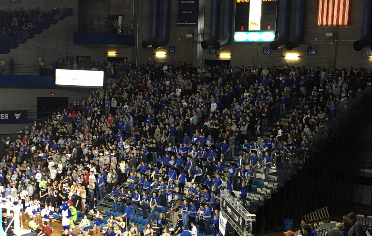 UB's Alumni Arena was packed for Saturday's game. (Mark Gaughan/Buffalo News)