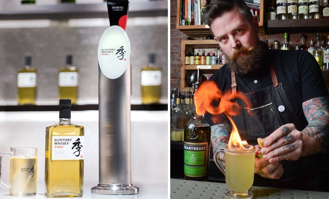 Beam-Suntory's whisky highball tap tower, left, will be at the disposal of Misuta Chow's bar manager and mixologist Jason Wood. (Photos via Suntory; Nancy Parisi/Special to The News)