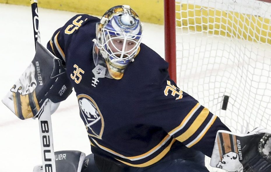 Linus Ullmark went 15-14-5 for the Sabres last season with a 3.11 goals-against average and .905 save percentage. (James P. McCoy/News file photo)