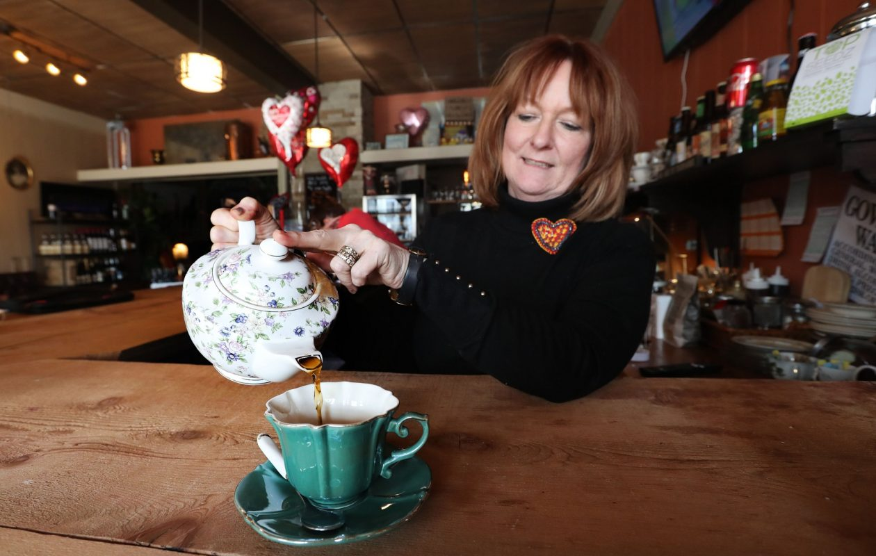Mambrino King co-owner Anita Pfeiffer, pictured pouring a hot beverage, will move her business down Main Street. (Sharon Cantillon/News file photo)