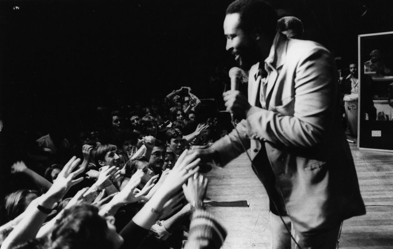 Marvin Gaye (1939 - 1984) in concert at the Royal Albert Hall.  His 'What's Going On' album boasts a message that needs to be heard now more than ever, says Jeff Miers. (Getty Images)
