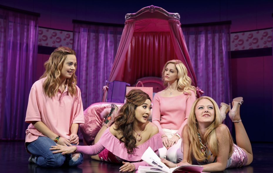 "A photo from the original Broadway Company of ""Mean Girls."" It is now on stage at Shea's Buffalo Theatre. (Credit Joan Marcus) ."