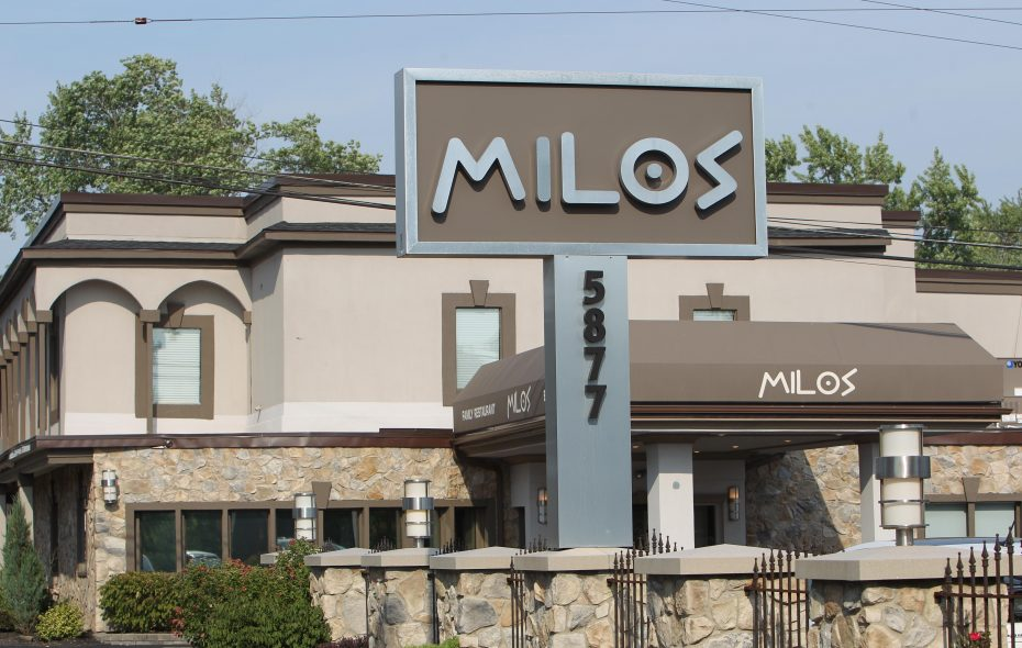 Excuria Salon and Spa on Friday closed on its purchase of the building that housed Milos restaurant in Williamsville. {Sharon Cantillon/News file photo}
