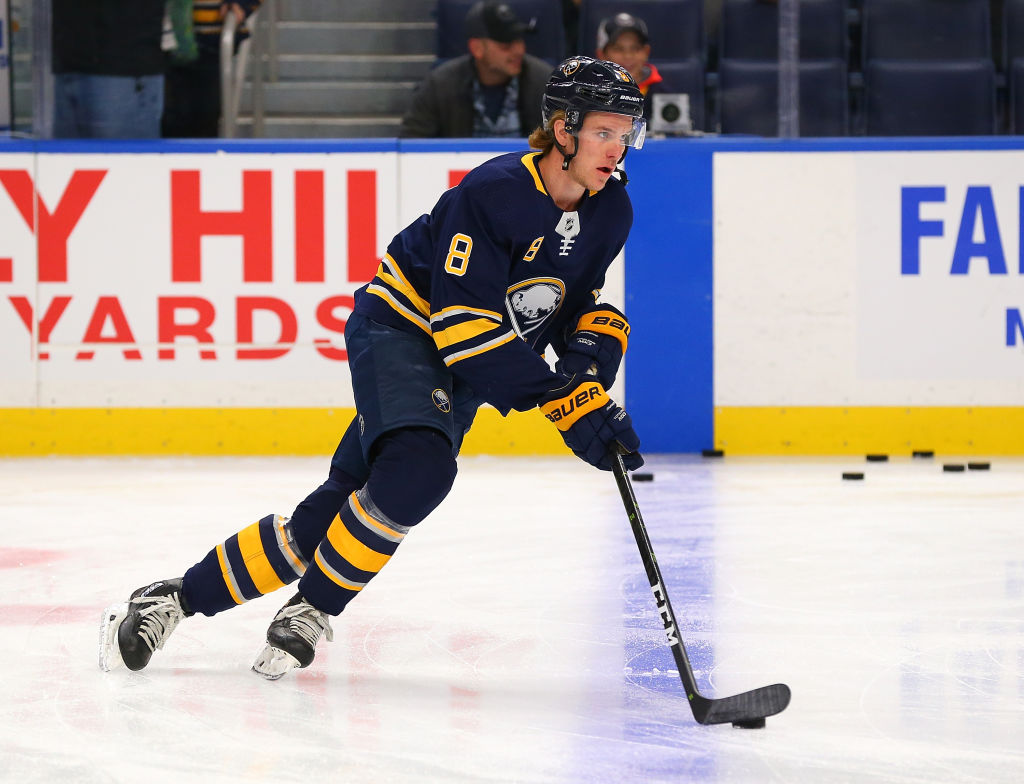 Casey Nelson wishes he had done more when Jack Eichel was hit Saturday in Colorado. (Getty Images)