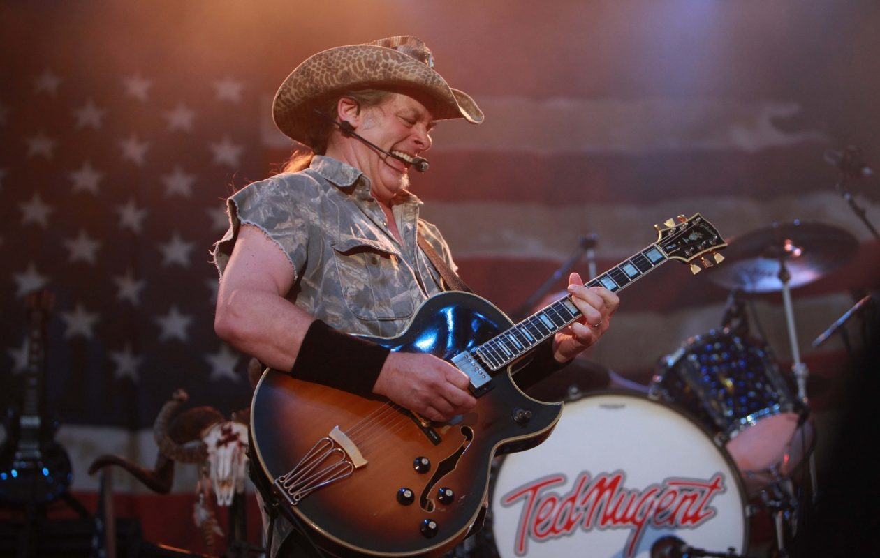 Ted Nugent at Artpark in 2011. His propensity for hate-fueled vitriol has some local music lovers urging a boycott of his just-announced appearance at the Riviera Theatre in August. (Photo by Sharon Cantillon/The Buffalo news)