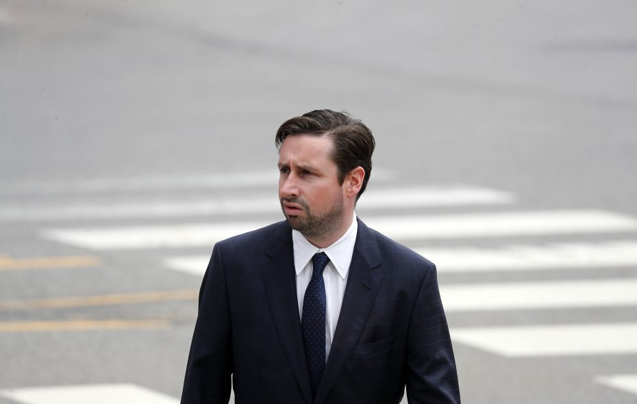 Patrick Ogiony, shown here entering the federal courthouse in Buffalo back in May, pleaded guilty in a Rochester courtroom Friday in connection with a mortgage fraud scheme. (News file photo)