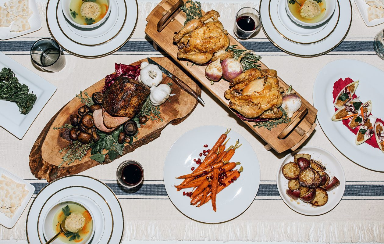 Caterer Amy Phillips created a Passover spread that honors the holiday's food traditions. (Katie Addo/food styling Amy Phillips)
