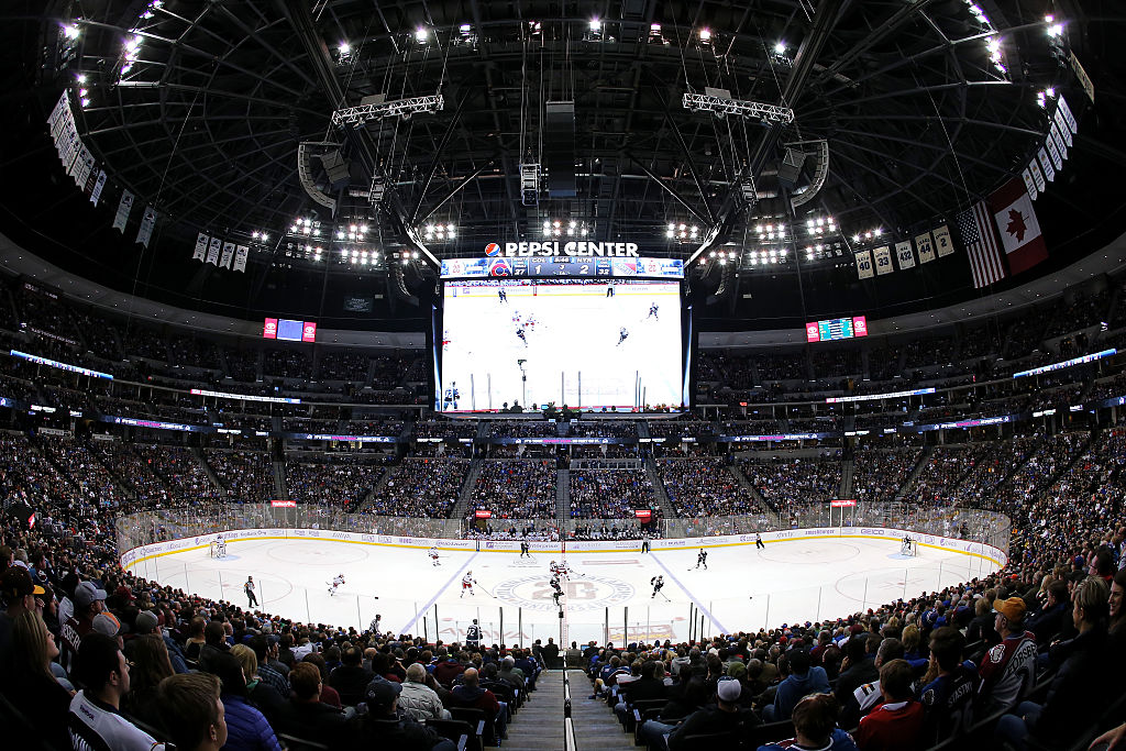 The scoreboard at the Pepsi Center in Denver was installed in 2013 and remains one of the largest in the NHL. (Getty Images)