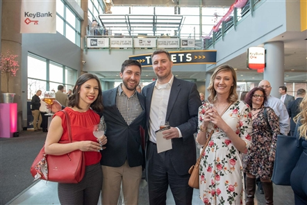 The Buffalo Sabres Alumni Association approached the $1 million fundraising mark in its 15th year at the Sabres Alumni Wine Festival, held Tuesday, March 19, 2019 in the lobby of KeyBank Center.