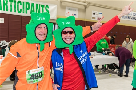 Some runners dress up and party at the Shamrock Run 8K, while others take the sanctioned race seriously for time. See the smiling runners before the race on Saturday, March 2, 2019 outside the Old First Ward Community Center.