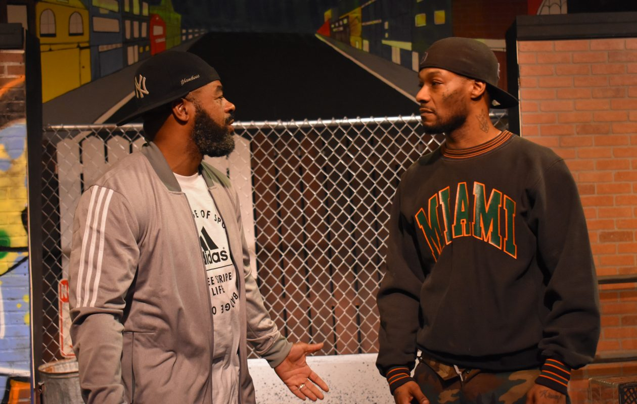 """Anthony Clark, left, and Arterist """"kingdom Krump"""" Molson star in 'The Sidewalk Stageplay' presented by Paul Robeson Theatre at the African American Cultural Center."""