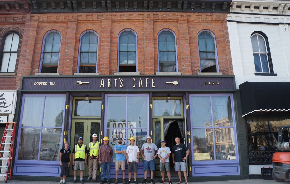 The new Art's Cafe in Springville. (Courtesy of Seth Wochensky)
