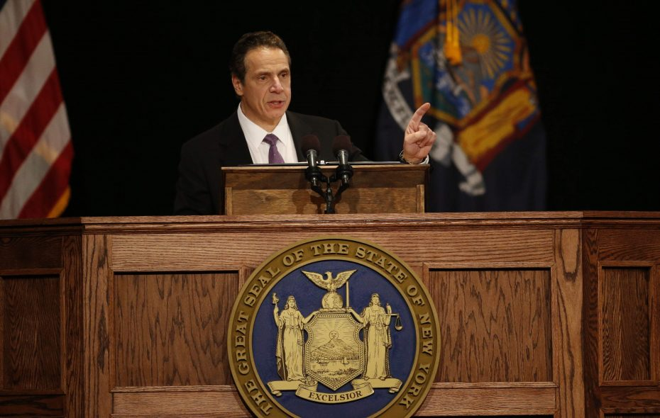 Gov. Andrew Cuomo delivers the annual State of the State address at the Empire State Plaza Convention Center in 2016.  (Derek Gee/News file photo)