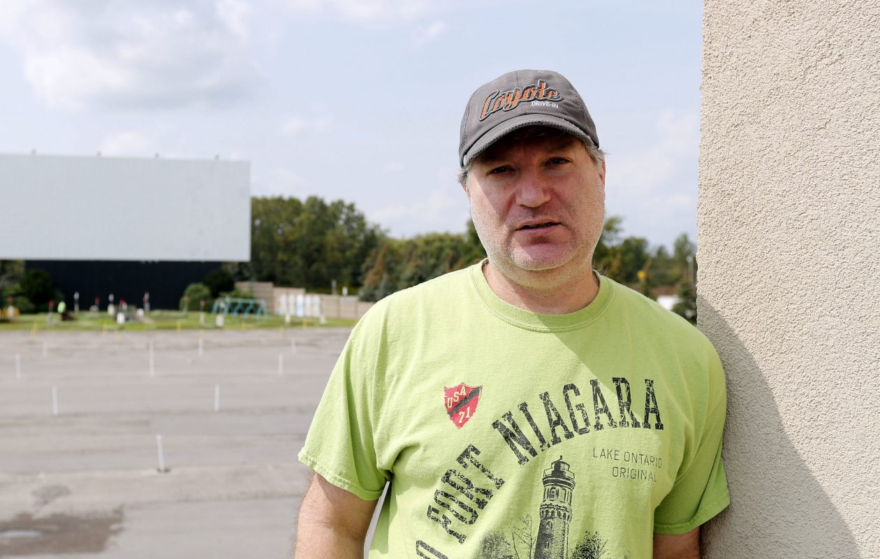 Transit Drive-In owner Rick Cohen at the theatre on Transit Road in Lockport. (Mark Mulville/Buffalo News)