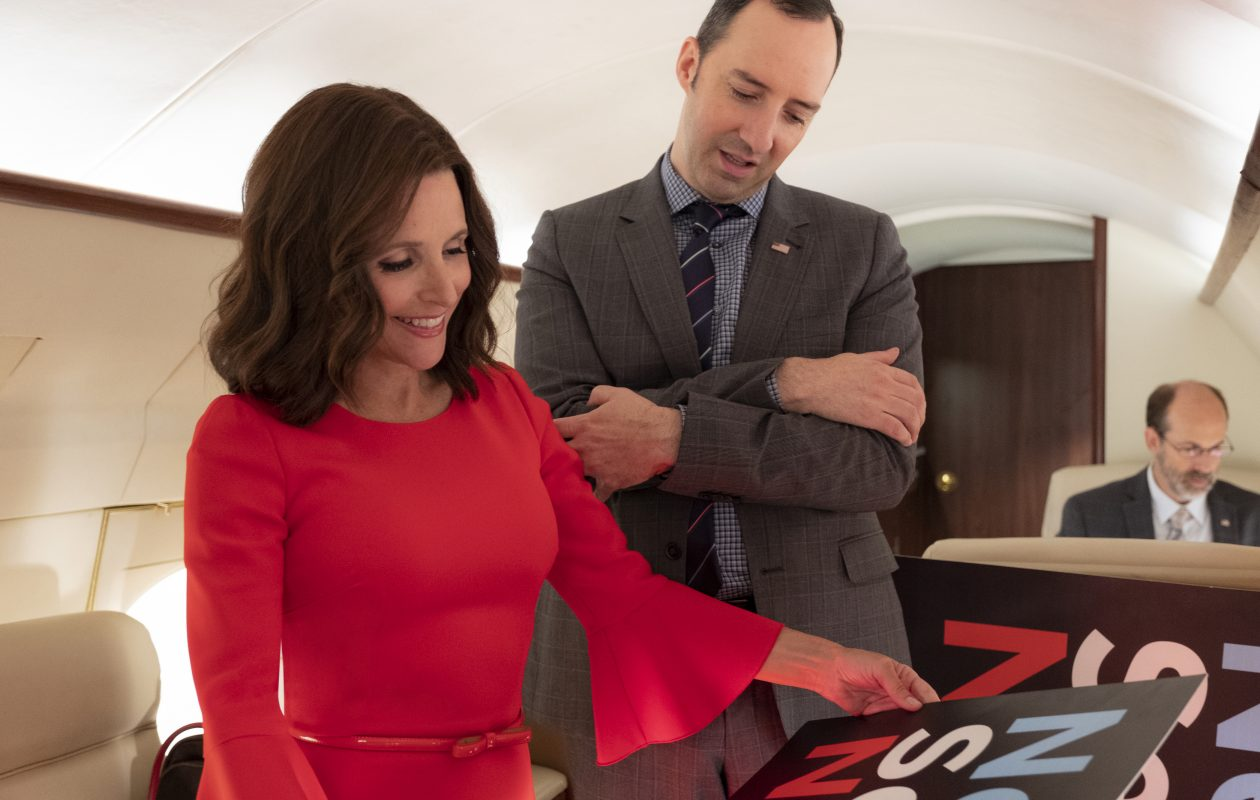 Selina Meyer (Julia Louis-Dreyfus) and Gary Walsh (Tony Hale) in 'Veep.' (Colleen Hayes/HBO)