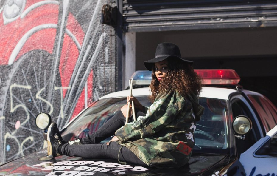 """Venzella Joy takes a break from her drumming duties with Beyonce to return home for """"Arts & Beats."""" (Photo courtesy Beau Fleuve)"""