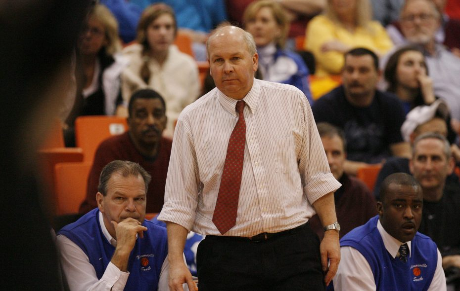Williamsville South's coach Al Monaco during the second half of a game at Buffalo State in 2010.(Mark Mulville/News file photo)