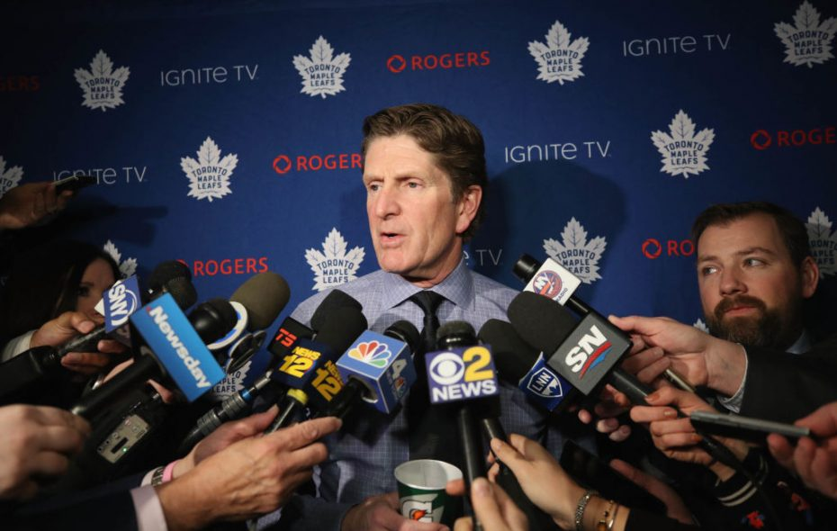 Mike Babcock was in the middle of a media storm in Toronto last week (Getty Images).
