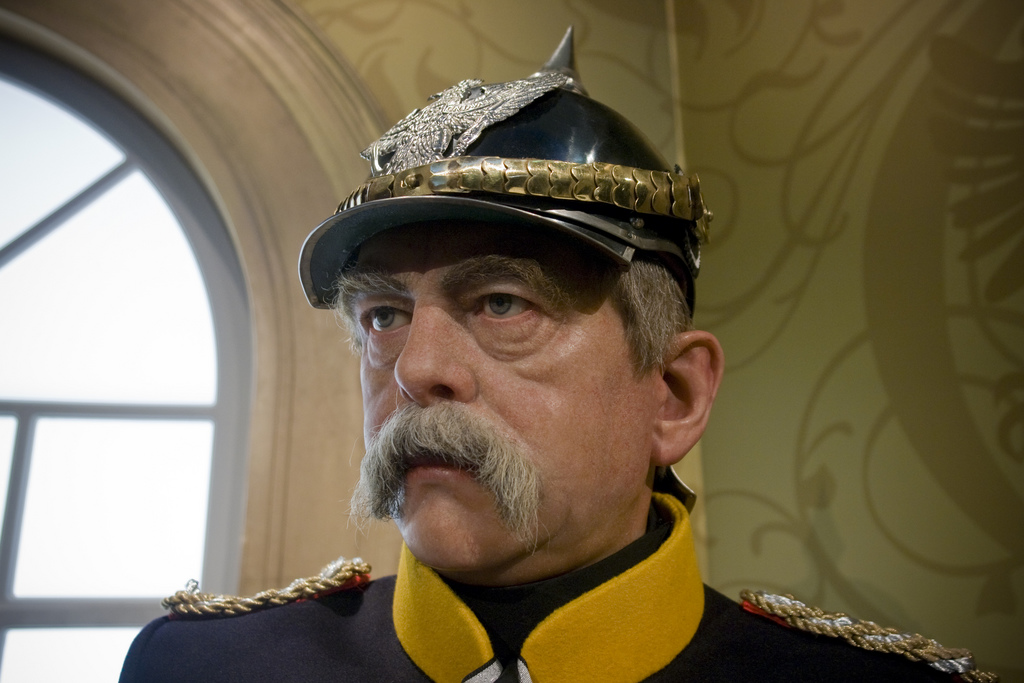 This likeness of Bismarck greets visitors to Madame Tussauds in Berlin.