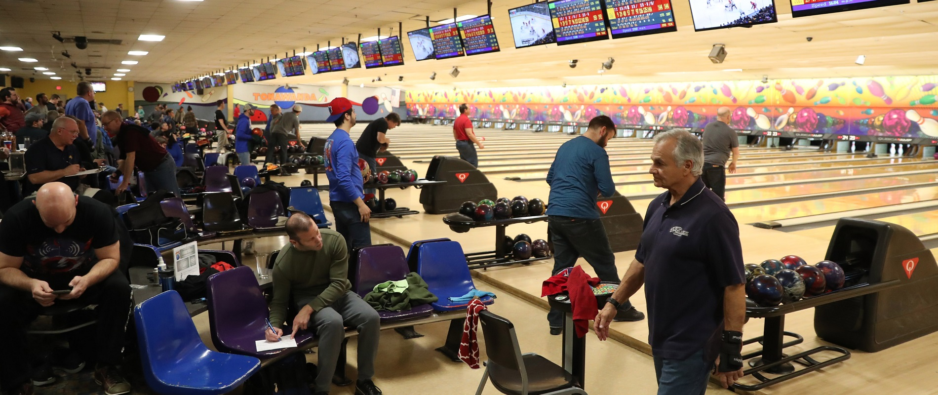 Jeff Miers writes, of places like Tonawanda Bowling Center, 'Around here, people still love to bowl, even if the blue-collar jobs they packed the alleys to forget about for a while are, largely, long gone.' (Sharon Cantillon/Buffalo News)
