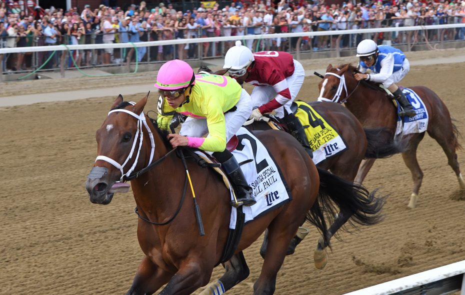Spinoff (No. 3), third in last summer's Saratoga Special, will try and get Todd Pletcher into this year's Kentucky Derby on Saturday. (Chelsea Durand/NYRA)