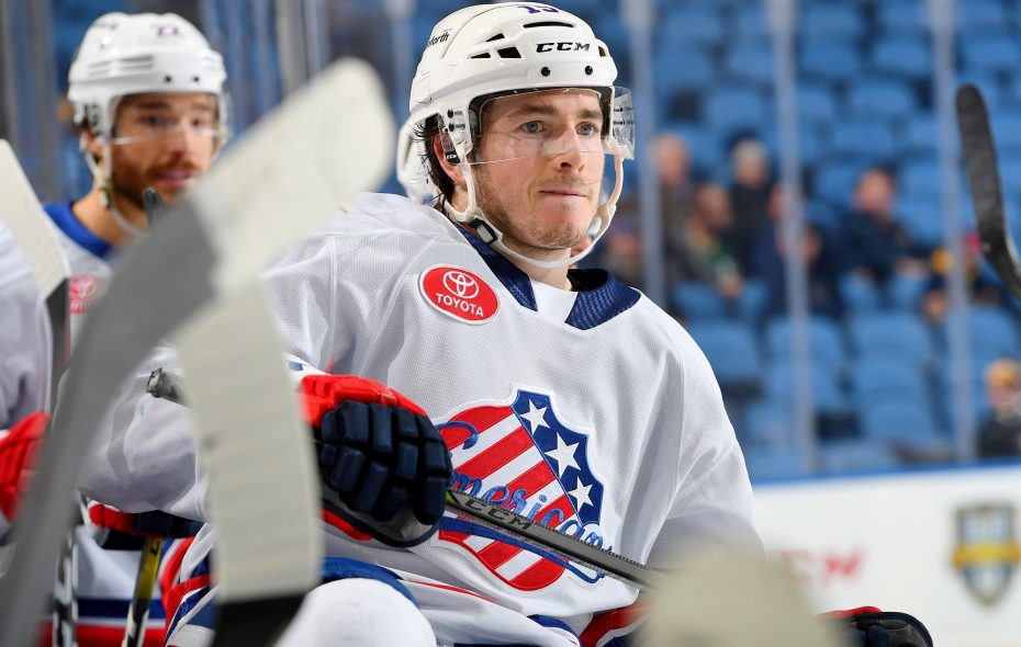 C.J. Smith's long road has led him to the American Hockey League. (Micheline Veluvolu/Rochester Americans)