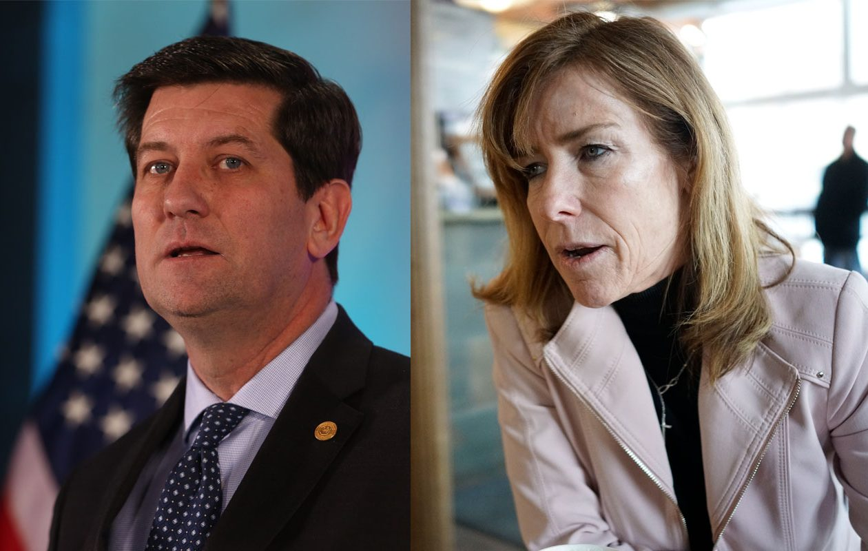 Erie County Executive Mark Poloncarz launched his campaign for re-election with an event attended by hundreds of supporters; Legislator Lynne Dixon, an Independent running as the GOP candidate, announced her plans to a News reporter at a Hamburg coffee shop, then in a personal video. (News file photos)