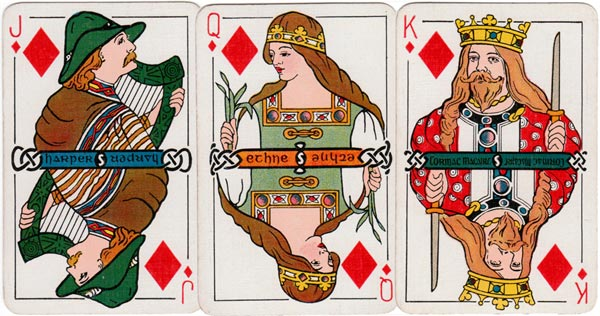 Irish Historic Playing Cards, 1920,, published by W. & G. Baird Ltd., Belfast, and printed by the Irish Playing Card Mfg. Co., Cork.