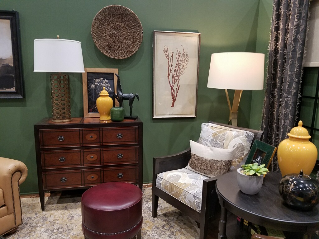 The Green Painted Room At The Buffalo Home Show Is One Of The Designer Rooms