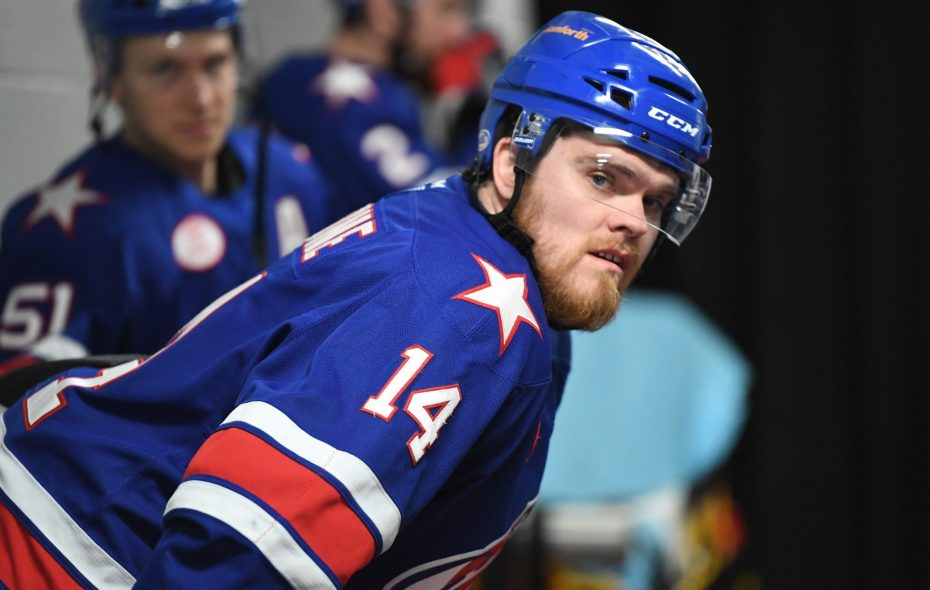 Sean Malone has struggled to stay in the lineup because of injuries. (Micheline Veluvolu/Rochester Americans)