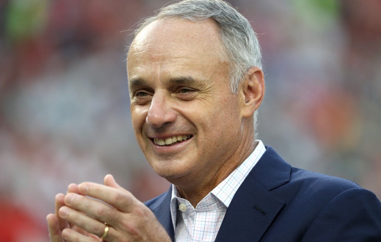 MLB Commissioner Rob Manfred has a lot on his plate as he tries to improve the game of baseball. (Getty Images)
