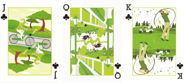 Royal Seasons playing cards by Ricky Linn