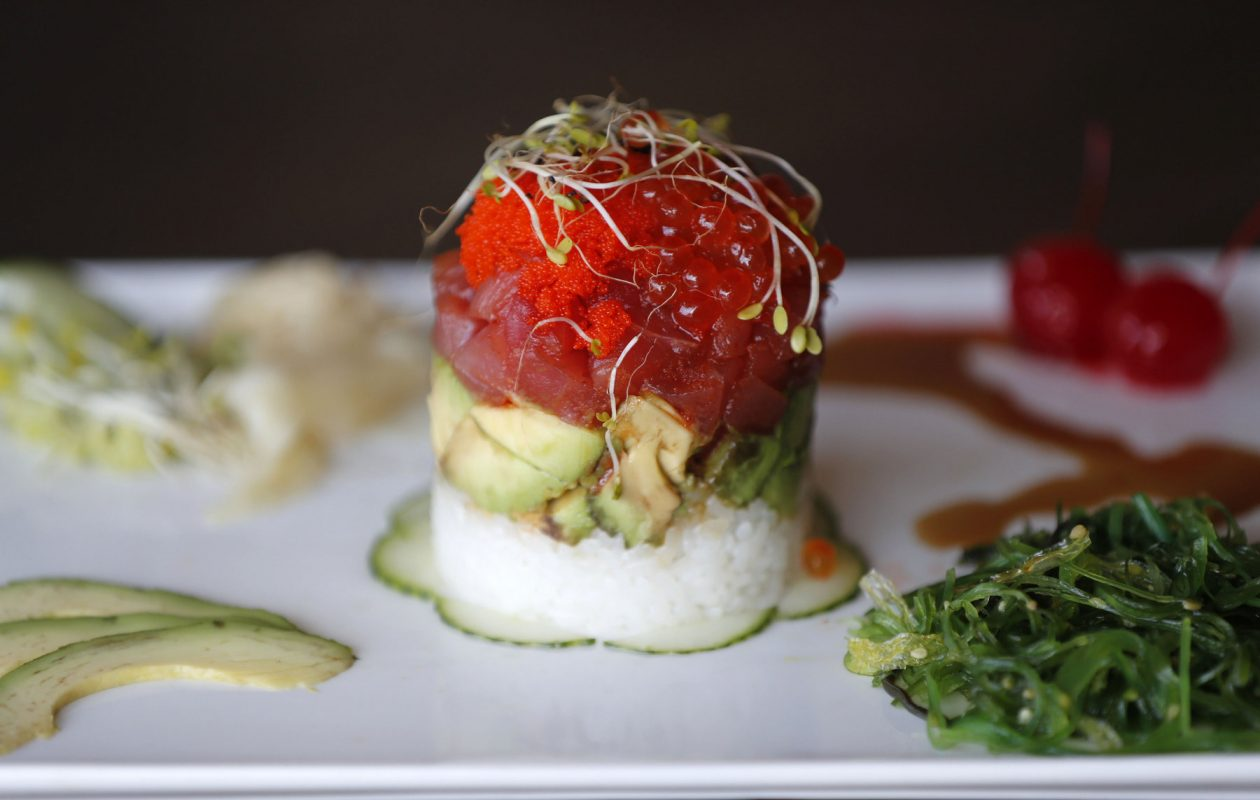 Tuna Tar 2 by Taka at Teton Kitchen on Elmwood Ave. (Mark Mulville/Buffalo News)