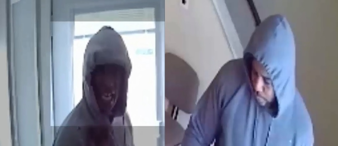 Police released images of two suspects in the robbery of a property management office in the Sheridan Parkside area. (Town of Tonawanda Police)