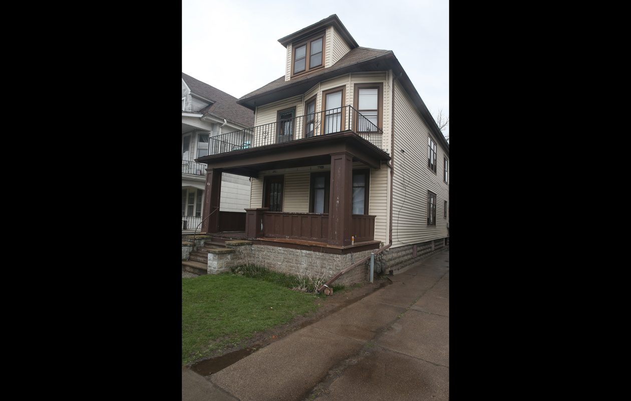 Sebastian Serafin-Bazan, a UB student, was hospitalized from a possible hazing incident at a house associated with the Sigma Pi fraternity on Custer Street in Buffalo. (John Hickey/Buffalo News)