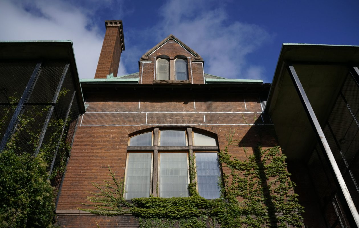 The west wing of the Richardson Olmsted Campus, Thursday, Oct. 18, 2018. (Derek Gee/Buffalo News)