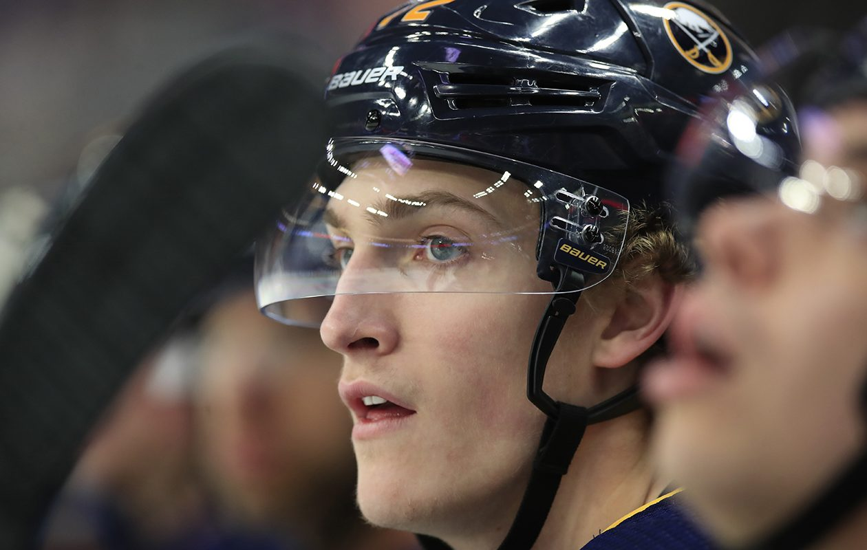 Tage Thompson played 65 games for the Sabres last season. (Harry Scull Jr./News file photo)