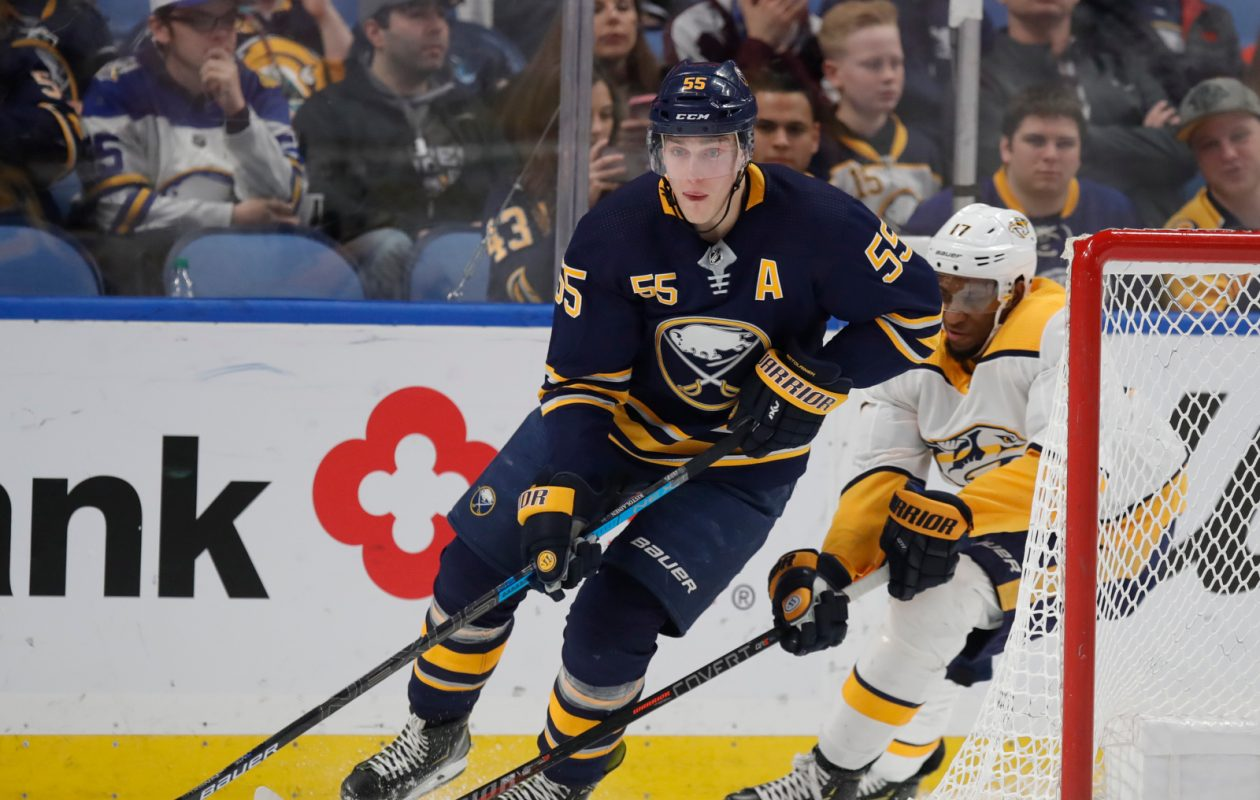 Is Rasmus Ristolainen's time with the Sabres almost up? (Harry Scull Jr./Buffalo News).