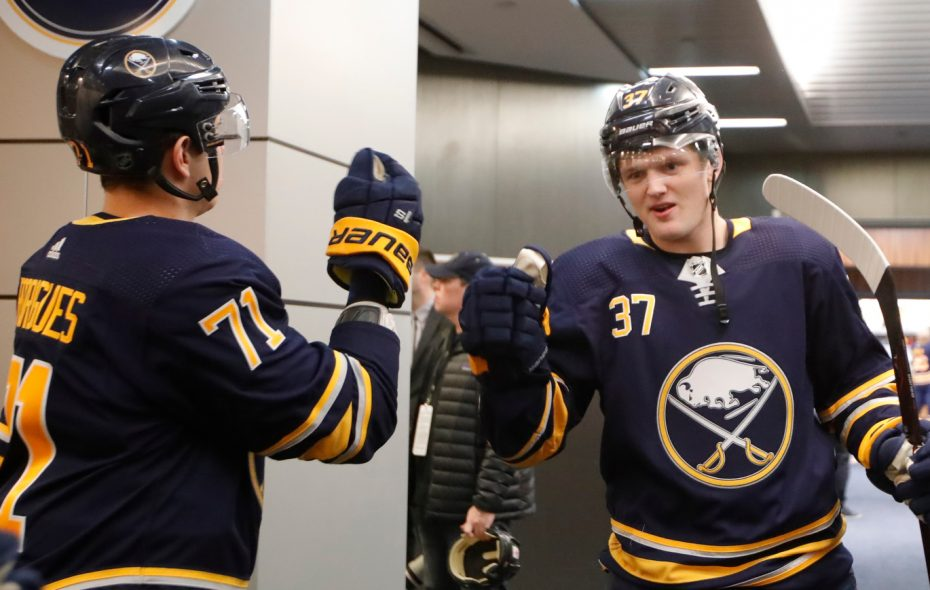 Casey Mittelstadt trying to 'take that jump' after challenging rookie season with Sabres