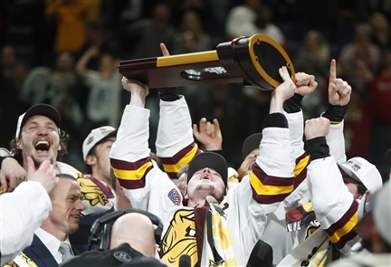 University of Minnesota Duluth defeats the University of Massachusetts for the NCAA Men's Ice Hockey Championship