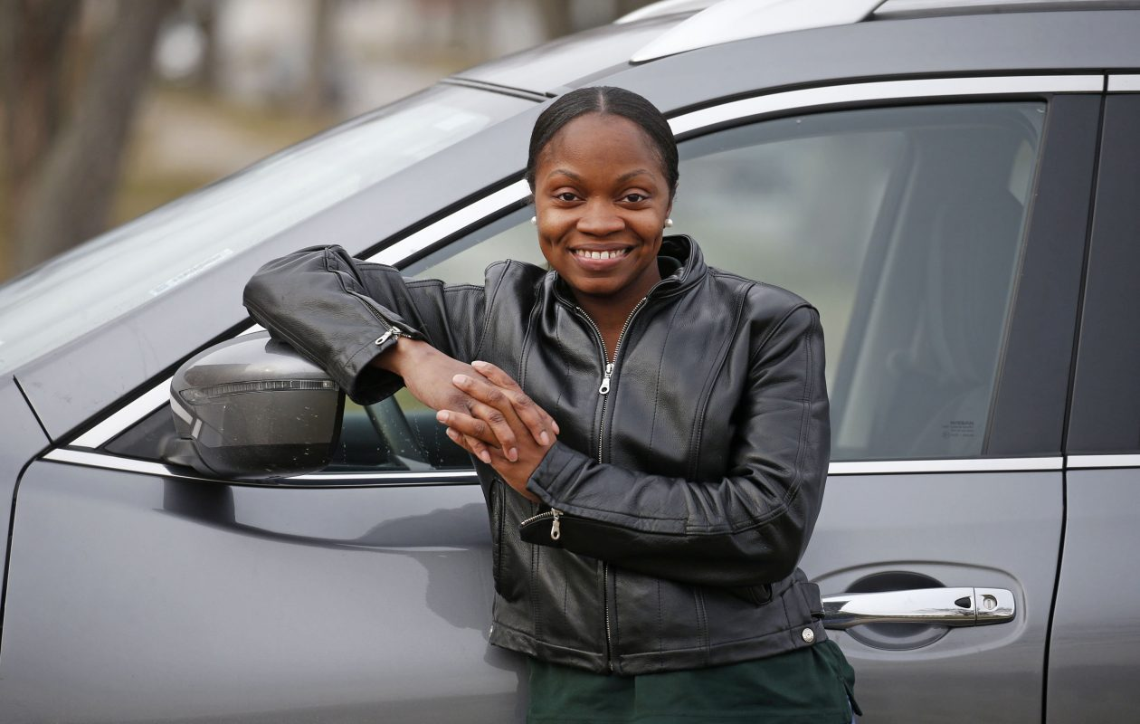 Uber driver Sylvia Collins of Cheektowaga is credited with saving the life of a toddler roaming alone in the middle of the night. (Robert Kirkham/Buffalo News)