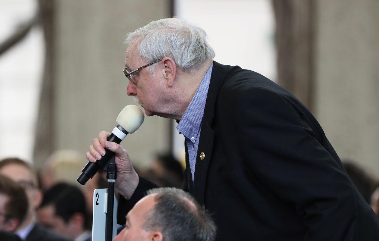 Paul Durnan, of Burlington, Ont., at the open mic. (Sharon Cantillon/Buffalo News)