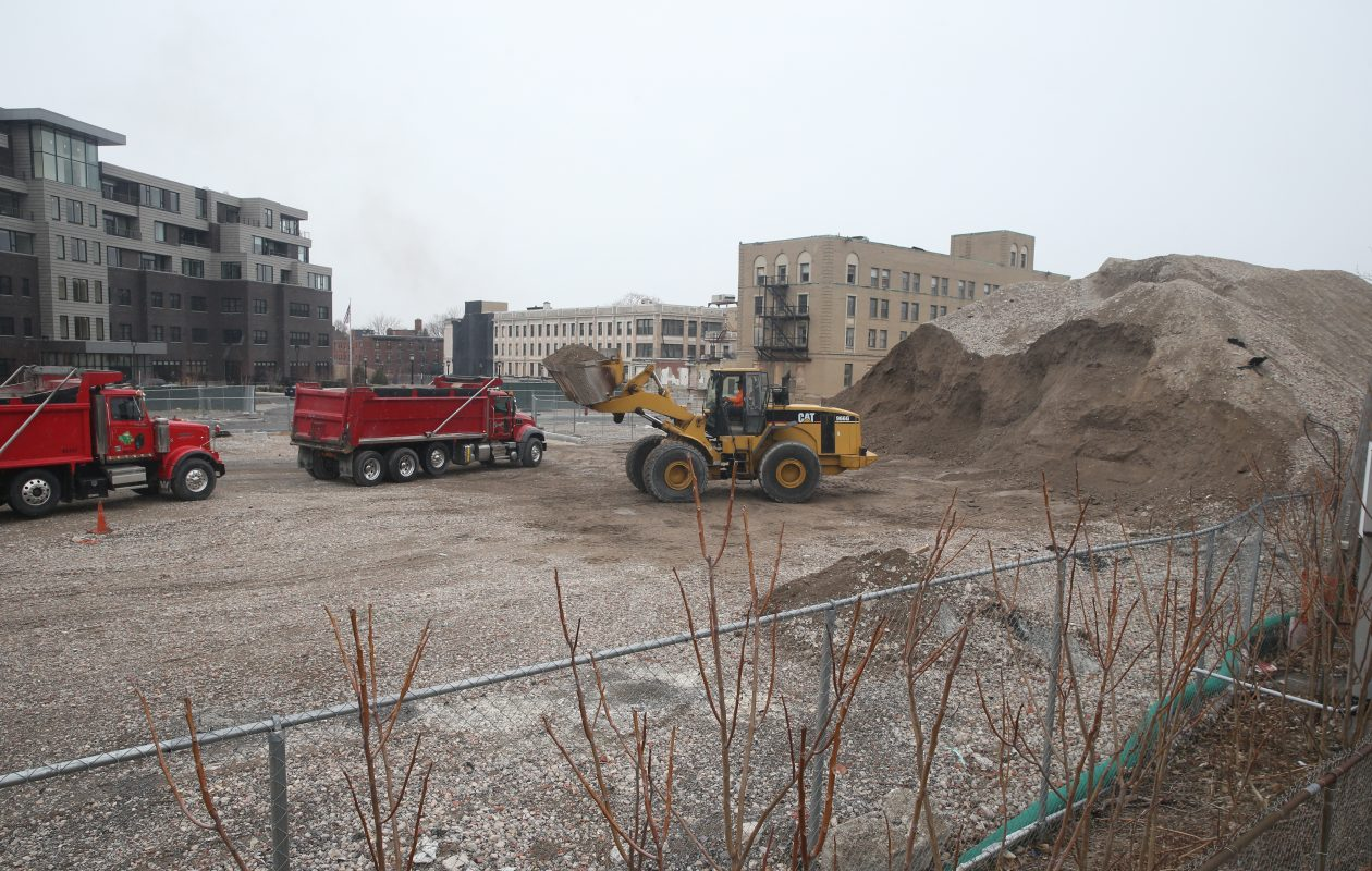 TM Montante wants to turn this former hospital site into a $150 million community of condos, affordable apartments and businesses – with lots of taxpayer help. (John Hickey/Buffalo News)