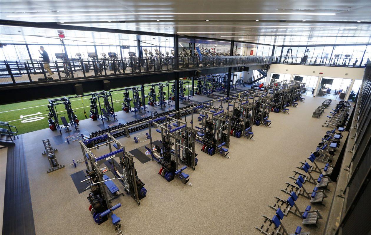(Power) racks on racks: The Bills' new training facility boasts an impressive array of workout equipment (Mark Mulville/Buffalo News)