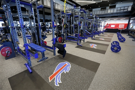 Check out the Bills' new weight room at ADPRO Training Center